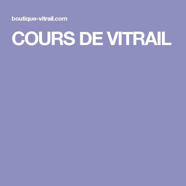 COURS DE VITRAIL