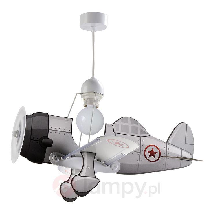 Lampa wisząca Airplane z samolotami, szara 2507289