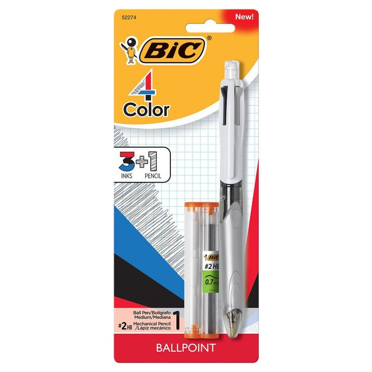Bic 4 Color Pen with Pencil,