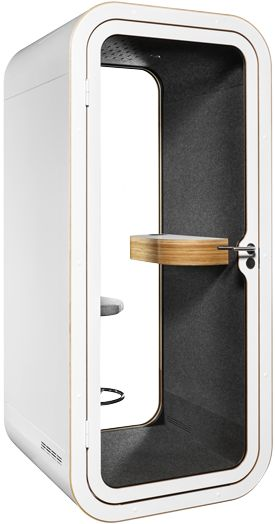 Sound proof phonebooth to help us concentrate and communicate. Perfect combination of functionality and design to make you bloom at what you do.
