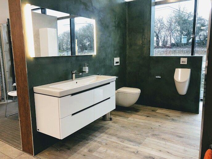 Badtrends 2019 Fugenloses Bad Wasserabweisender Putz Dunkelgrun