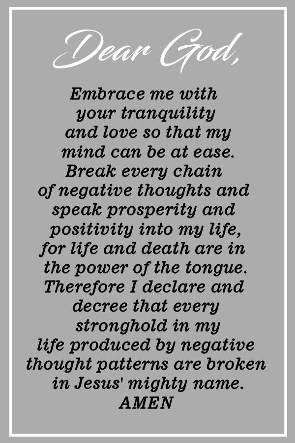 Powerful Prayer Against Negativity