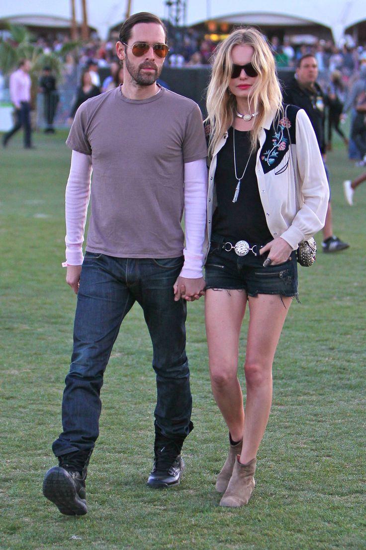 Kate Bosworth e Michael Polish short neri e stivali alla caviglia ...