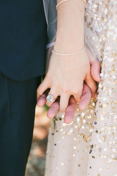 Beautiful ring: http://www.stylemepretty.com/little-black-book-blog/2015/04/29/gold-glitter-blush-calabasas-wedding/ | Photography: Onelove - http://www.onelove-photo.com/