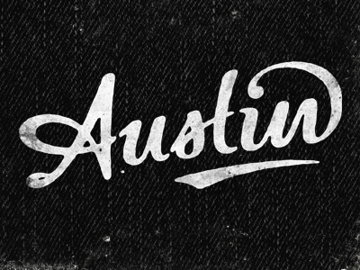 Austin vintage lettering logo. Nice connections and ligatures