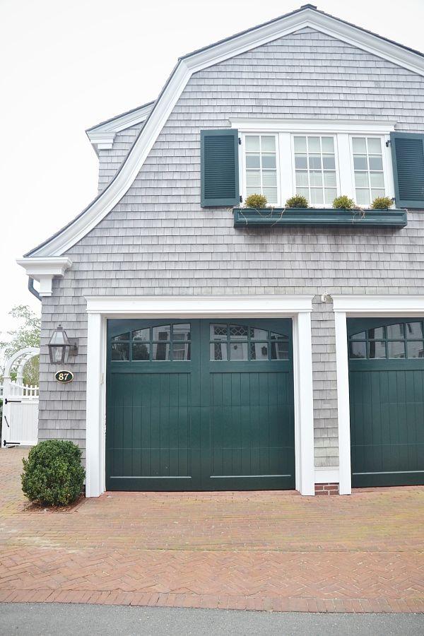 lovely green garage doors.