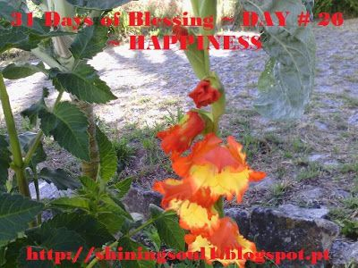 ShiningSoul: Day #26 ~ 31 Days of Blessing: HAPPINESS /  Dia #2...