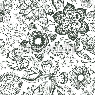 Natural Beauty by Irina Timofeeva available for download on patterndesigns.com