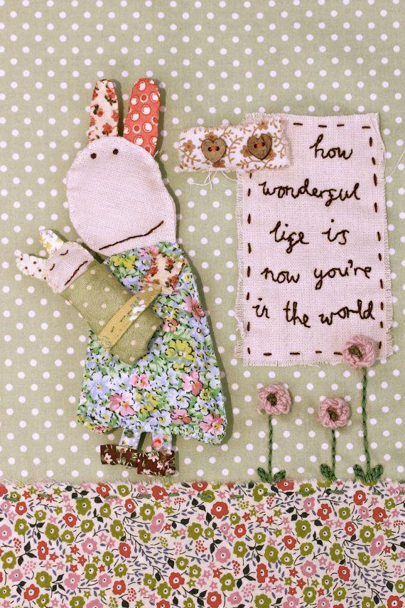 Baby coniglio Nursery Wall Art Decor doccia di RosieMadeAThing