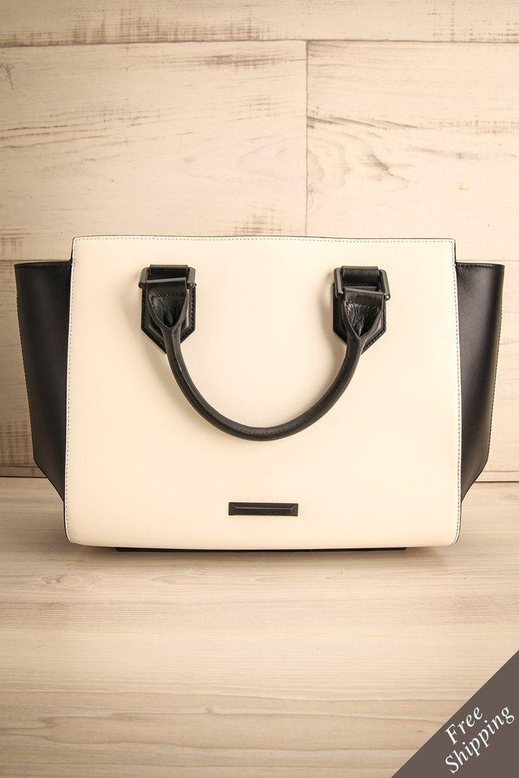 Sinora #lapetitegarconne #bags #handbags #black #white #kendallkylie #fauxleather