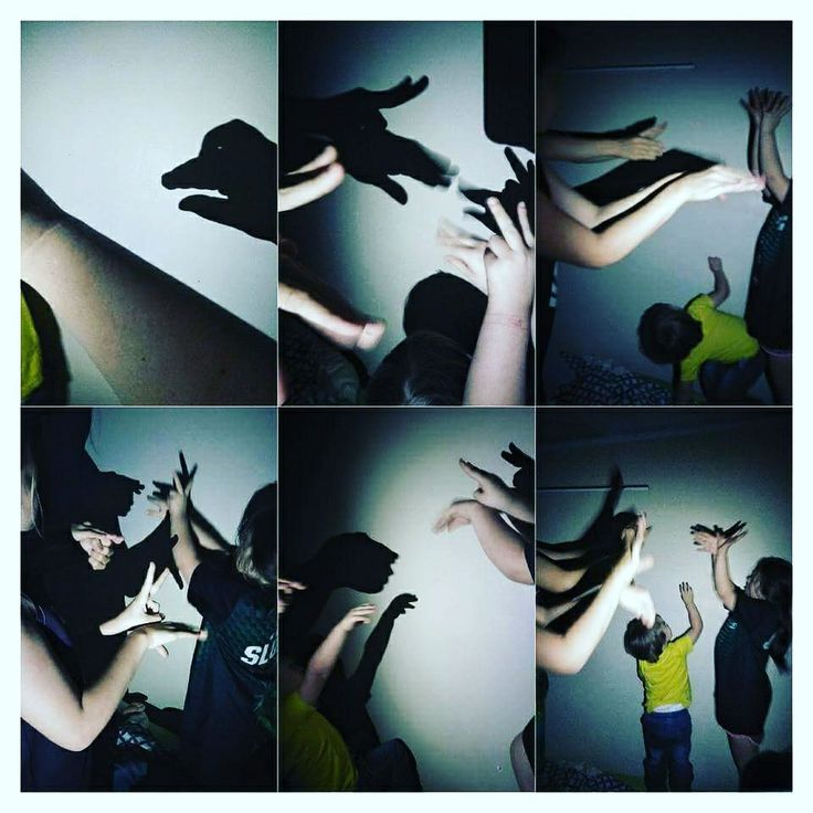 Natural light and dark = shadow puppets