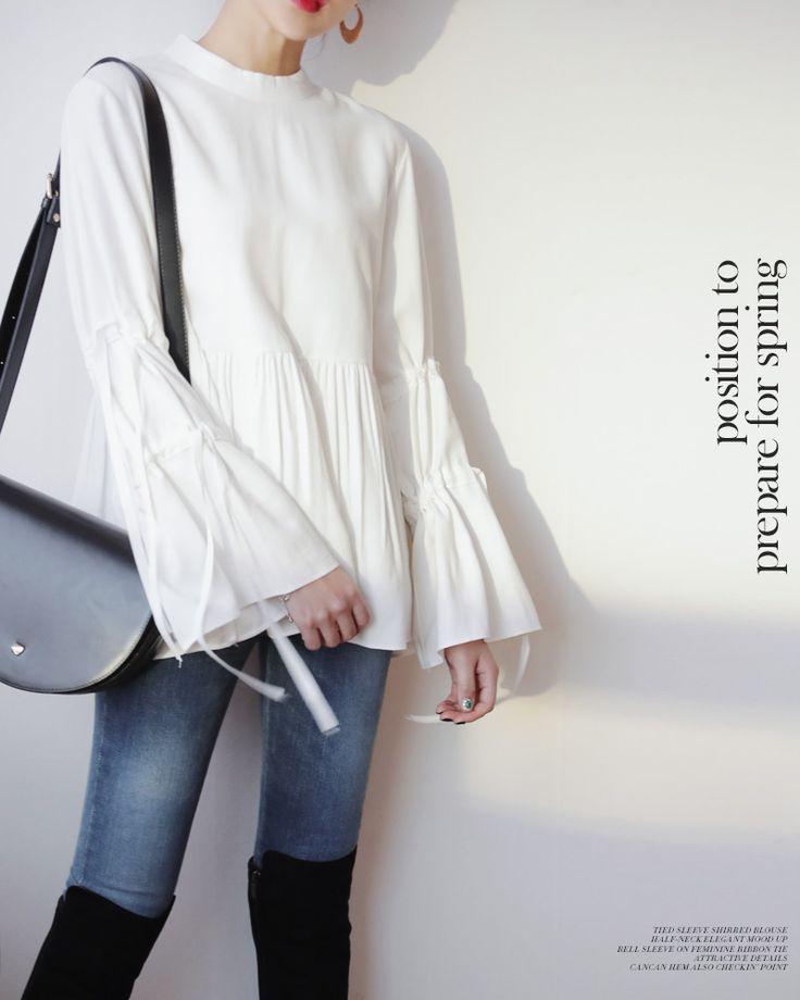 スリーブストラップフレアブラウス・全2色シャツ・ブラウスブラウス・チュニック|レディースファッション通販 DHOLICディーホリック [ファストファッション 水着 ワンピース]