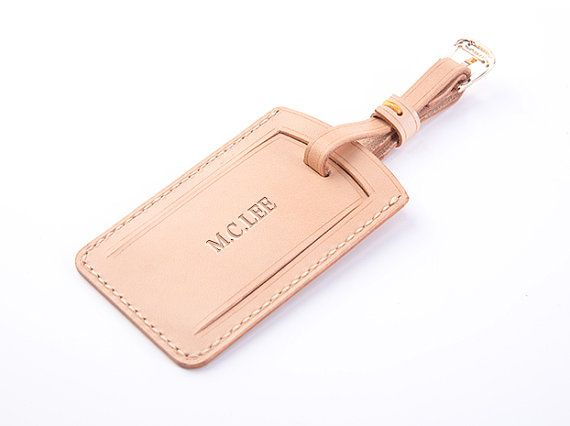 RCLAB designs Leather luggage tag Personalize luggage tag