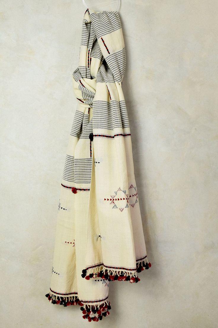 Polar White Weaved Shawl
