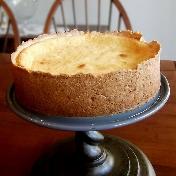Made with ricotta instead of cream cheese, this Käsekuchen, a German cheesecake, is rich, smooth and delicious.