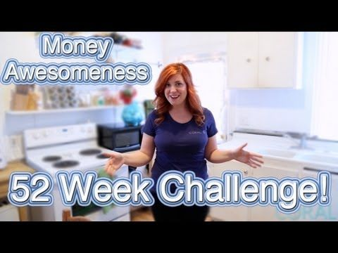 Money Awesomeness: The 52 Week Challenge! Take the 52 week money challenge & save an extra $1,300 this year!