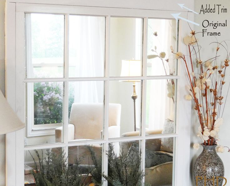 Diy Window Pane Mirror Window Panes Window And Diy And