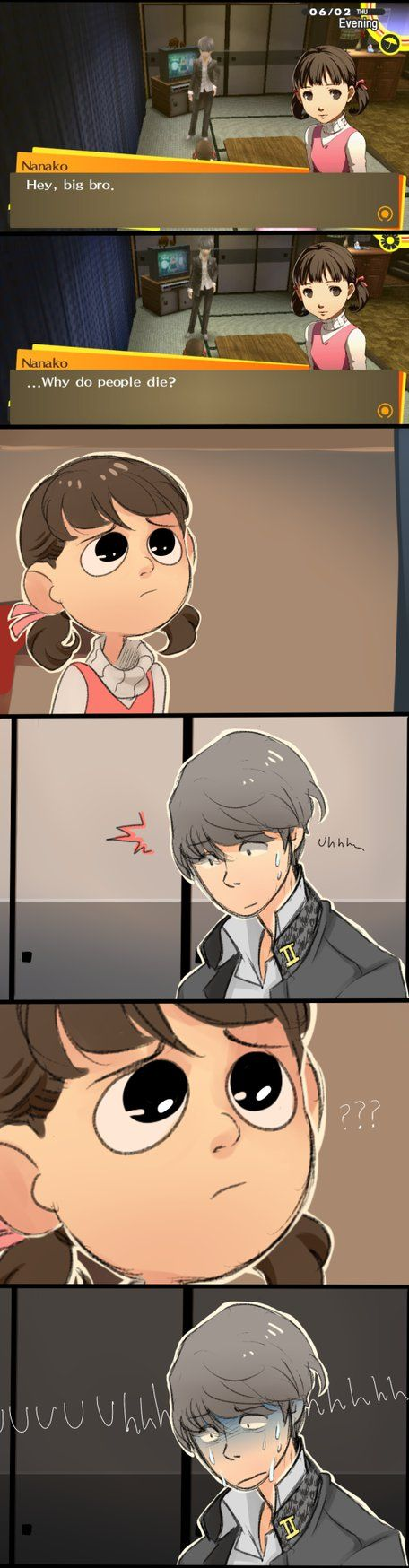 Not ready for questions like these  [PERSONA 4] by Ful-Fisk.deviantart.com on @DeviantArt