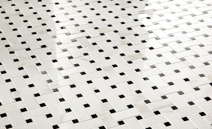 Calacatta Polished Basketweave #unicomstarker
