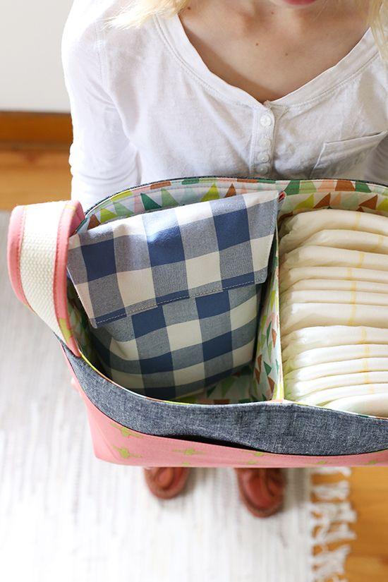 Springy Divided Basket + Diaper Pouch | Noodlehead | Bloglovin'