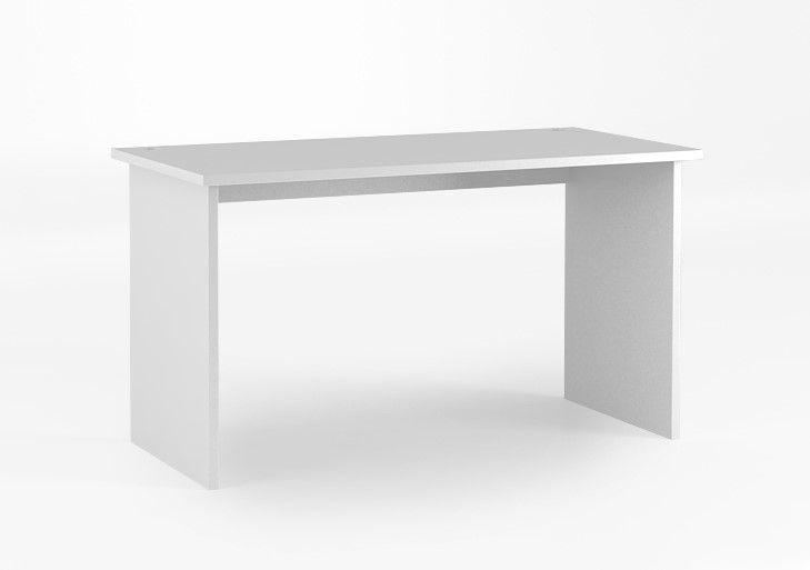 Biurko 135 o wymiarach: 745x1345x650. laminowany blat o grubości 25 mm, duża powierzchnia blatu, boki biurka i blat wykonane z płyty laminowanej.
