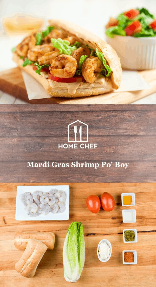 Po' Boys are a Louisiana original, but we skip the frying to bring you a healthier version. Shrimp gets dusted in Cajun seasoning and served on a toasted Italian roll with lettuce, tomato, and remoulade, a Cajun mayo. It's served with a crisp salad to counter the nice spice in this dish.