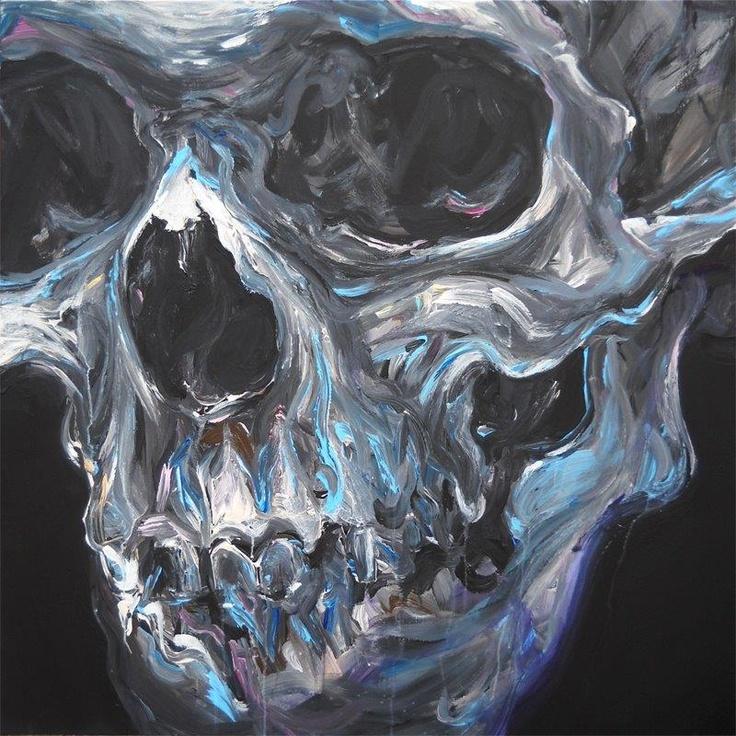 calmets /skull / 120 x 120 cm