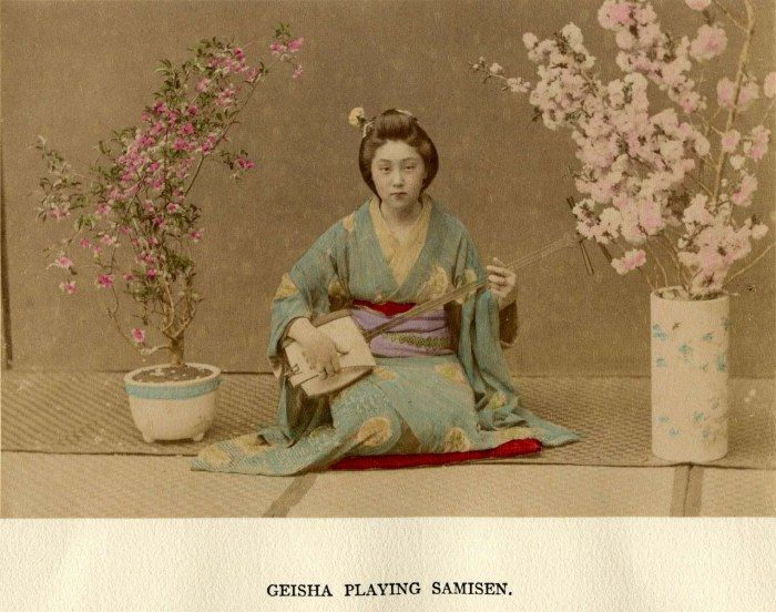 GEISHA PLAYING SAMISEN
