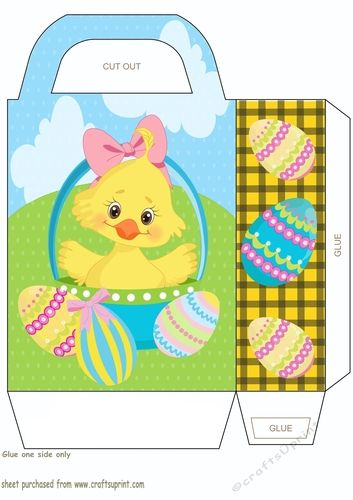 229 best easter bagsboxes envelopes images on pinterest easter chick gift bagyou will need to print 2 sheets to make the gift bag negle Gallery