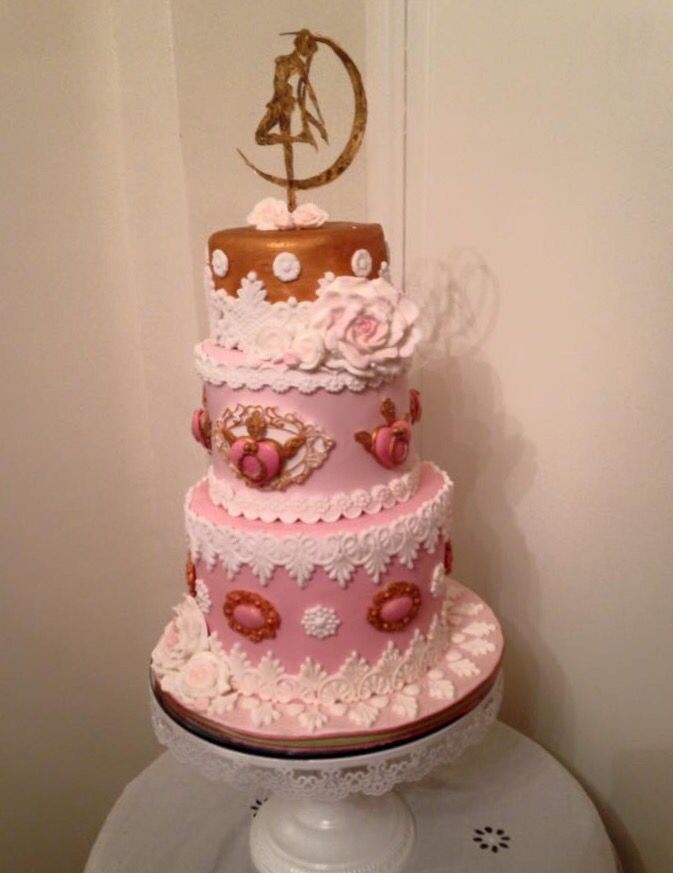 A rococo style sailor moon cake