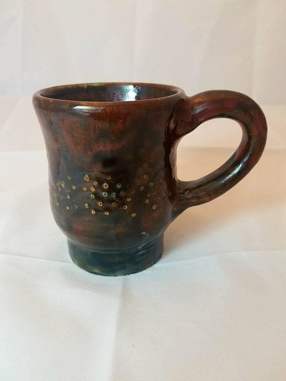 Handmade Pottery Coffee Mug Mother S Day Gifts For Her Him Unique Tea 9 Oz Cup Fire Amarshpottery Gift Ideas