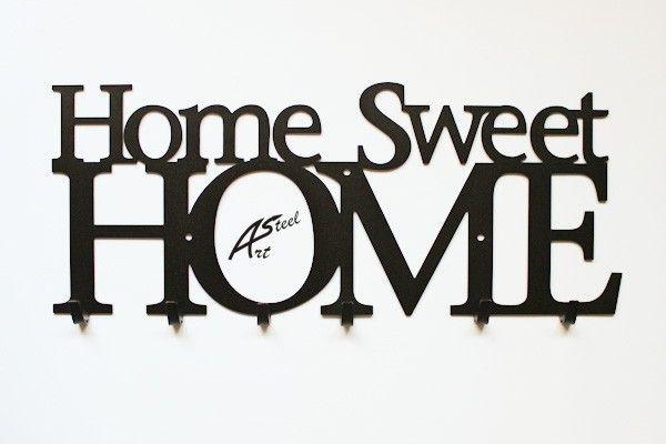 Wieszak na ubrania, klucze, Home Sweet Home w Art-Steel na DaWanda.com #niezchinzpasji