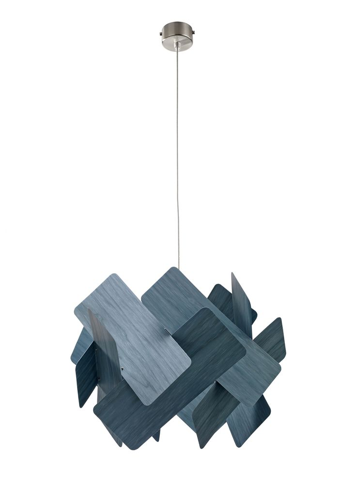 LZF-Escape-Lamp-7  This could be a great pendant for over the dining room table, either in blue, white or orange, depending on how bold you would like to go.    The shape repeated in this fixture would tie in beautifully with the shape of the subway tile on the backsplash.