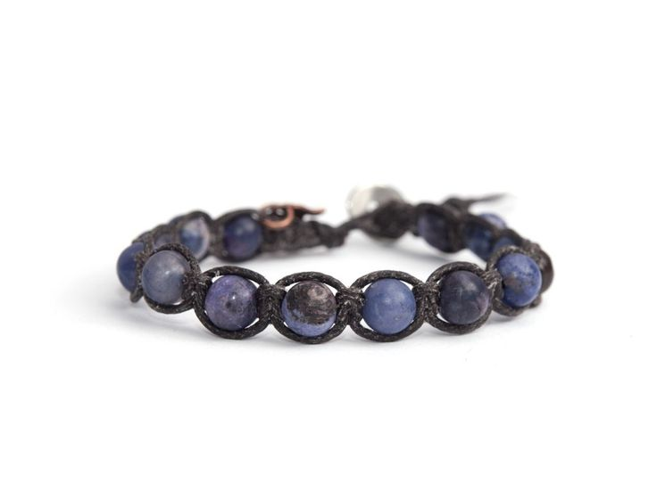 Purple Tibetan Bracelet For Woman  This is a handmade italian style woman bracelet, BBHands Tibet Style. It is a wrap bracelet with charm. Precious stones (purple magnesite and steel button) are woven with care and passion onto a single braided waxed cord