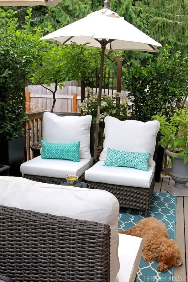 My Small Backyard Deck Makeover {Before U0026 After