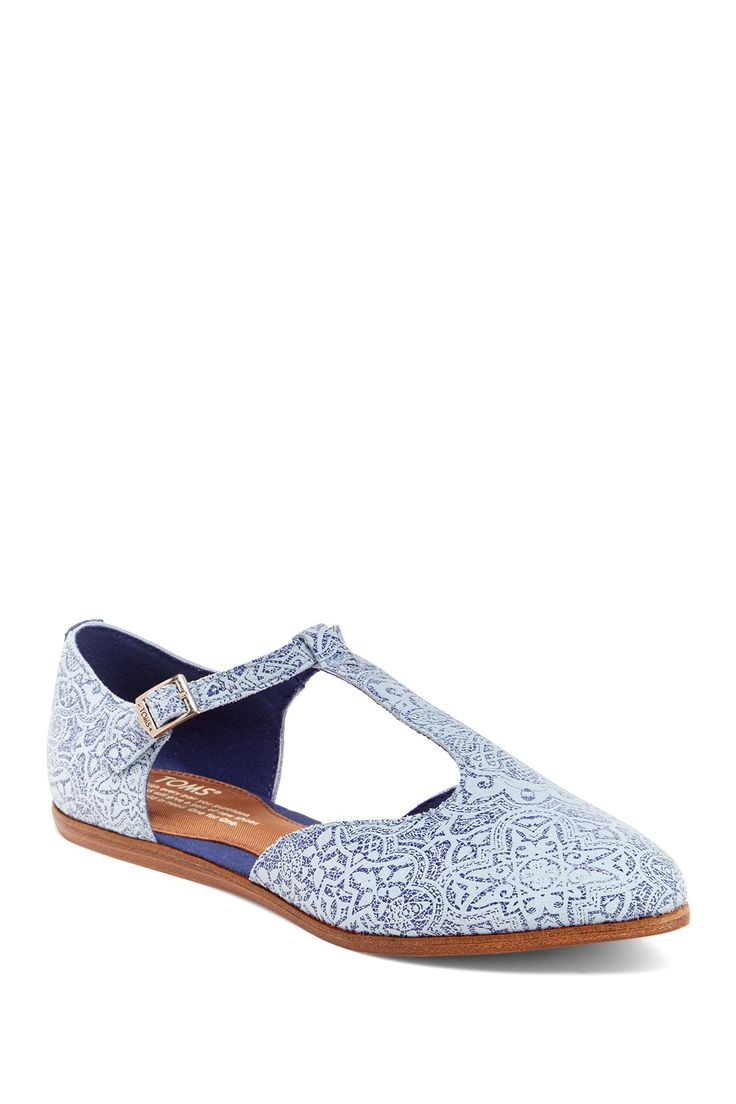 Jutti T-Strap Flat by TOMS on @nordstrom_rack