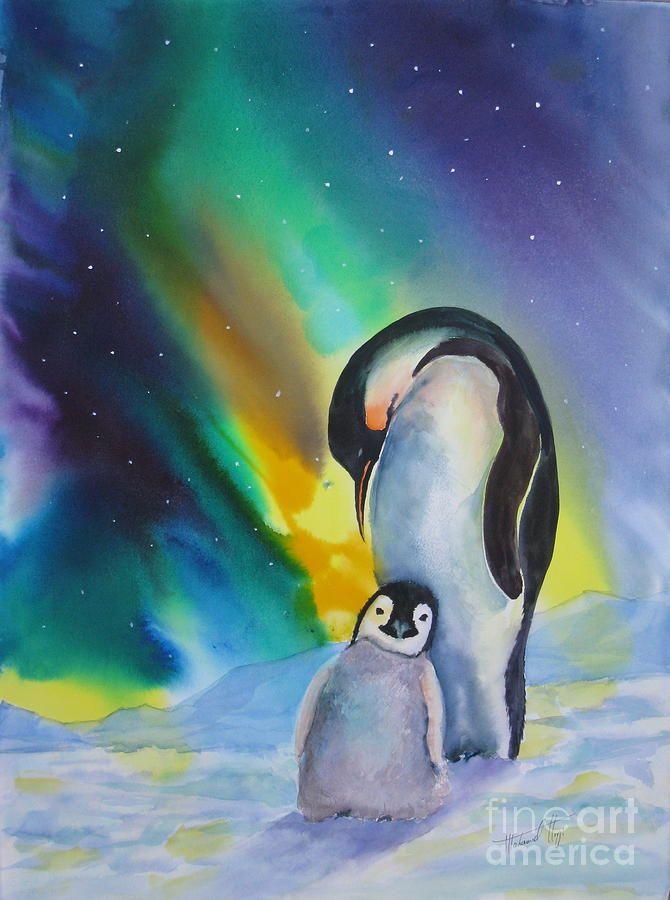 Penguins - watercolor by ©Mohamed Hirji (FineArtAmerica)