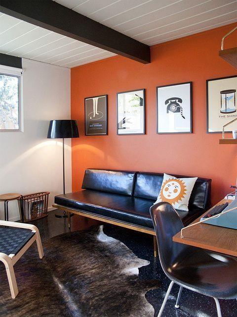 Wohnzimmer Orange Akzent Wände Wohnzimmer Pinterest Home