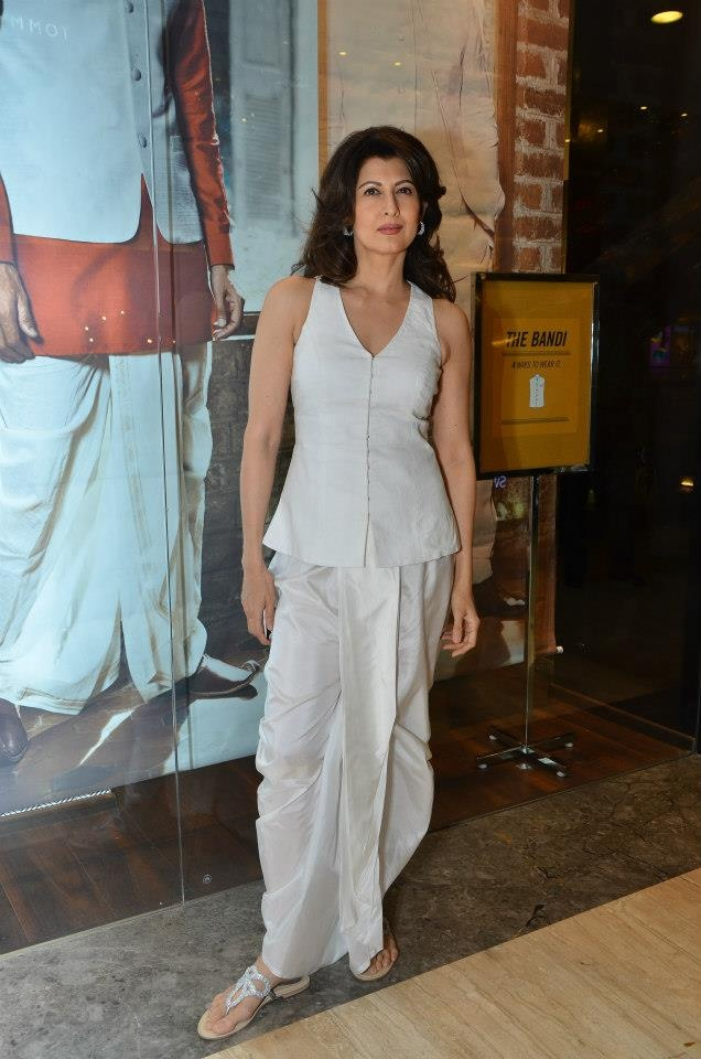 Check out Sangeeta Bijlani in a stunning Anita Dongre dhoti & bandi. She pairs it beautifully with an elegant Global Desi Footwear! Footwear - http://shop.anitadongre.com/shopping/product.php?productid=2123=86=2