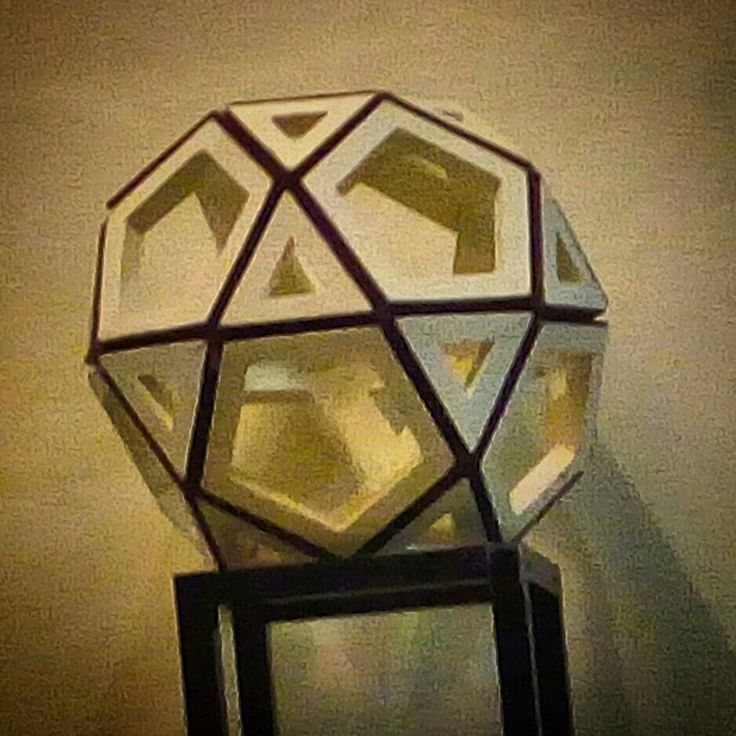 """FROM PAPER TO WOOD  Polyhedron # 12 - ICOSIDODECAHEDRON Designed by Leo R. Natividad for Lights & Folds Handicraft Fabricated by Allan Aguinaldo  Using 3/4""""×3/4""""×4.5"""" Softwood 32 Triangles 6 Squares  36 Surfaces  24 Apexes  60 Edges  Circumference - 40"""" (101.6 cm) Diameter - 12.7"""" (32.25 cm)  Price - Php 4,794.00  #from_paper_to_wood #only_in_the_world #origamipilipinas #lights_and_folds_handicraft #only_in_the_Philippines #origami_inspired_wooden_polyhedron"""