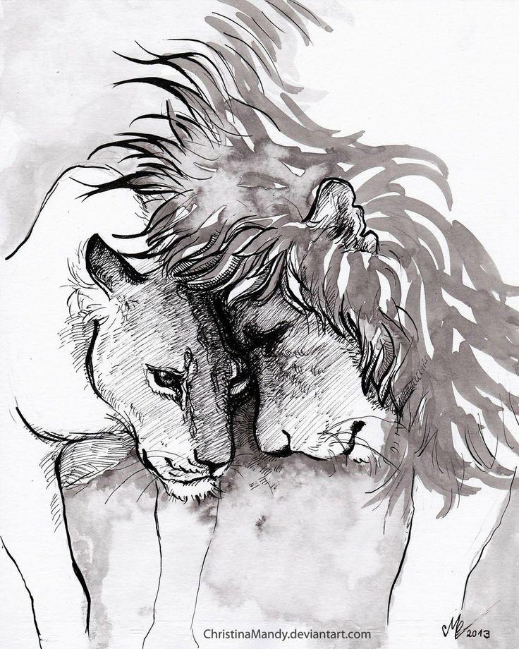 The lion couple by ChristinaMandy.deviantart.com