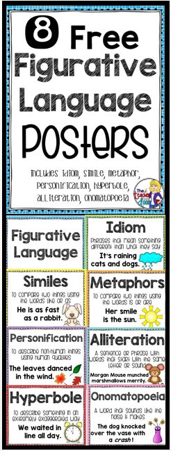 These 8 Figurative Language Posters are a great way for you to introduce…