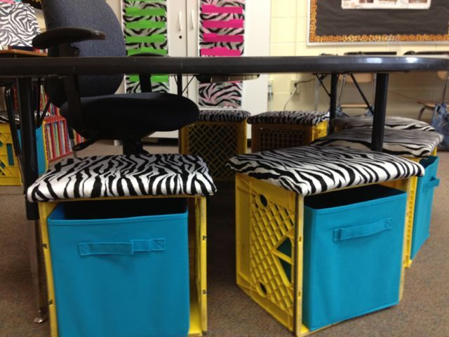 I get more compliments on my crate seating and benches in my classroom.  I made these last year and would be lying if I said they were easy!  They did take a lot of work but once they were finished…
