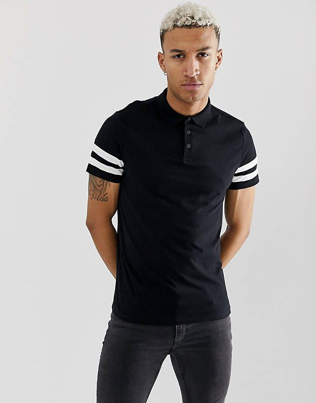 fd0a3127d 00 Nike matchup polo shirt in black 909746-010 $45.00 ASOS DESIGN knitted  revere polo t-shirt in tan $29.00 ASOS DESIGN Plus pique polo shirt with  tipping ...