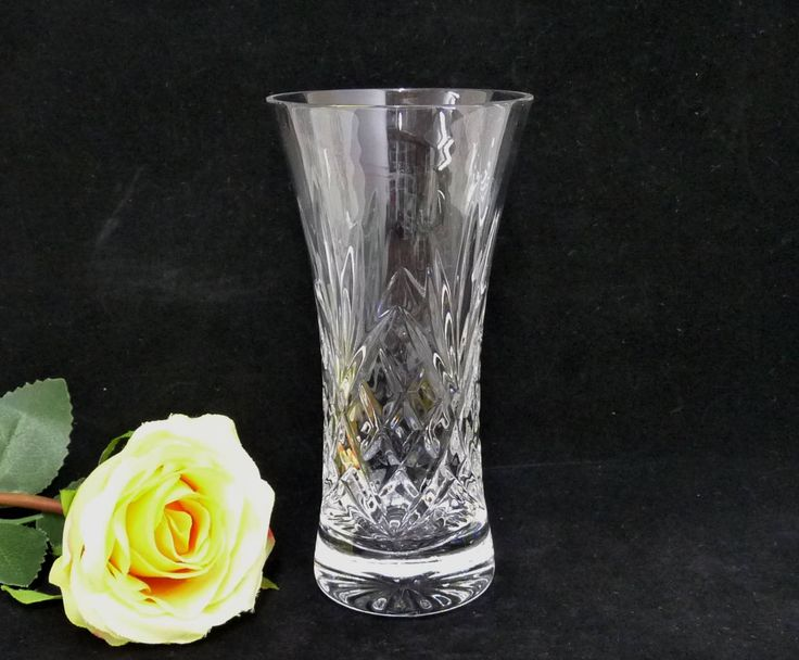 Small Glass Vase, Criss Cross and Fan Pattern, Posy Vase, Clear Glass Vase, Vintage Vase, Cut Glass Vase, Flower Display, Flower Arranging by KitschandCollectable on Etsy
