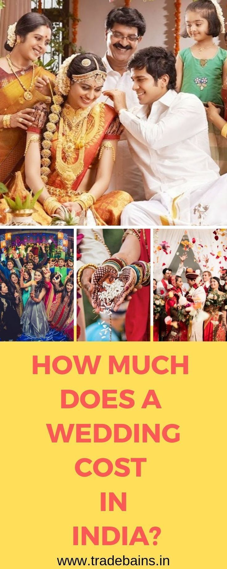 How much does a wedding cost in India? (For average