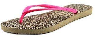 Havaianas Slim Animals Women Open Toe Synthetic Multi Color Flip Flop Sandal.