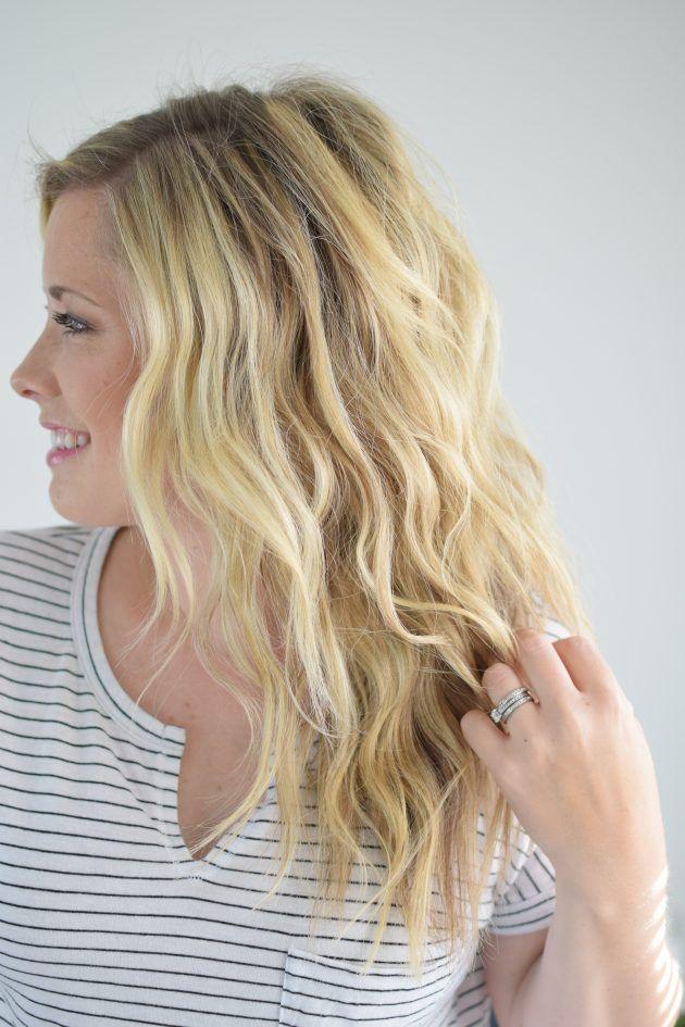 Beachy Mermaid Waves Hair Tutorial