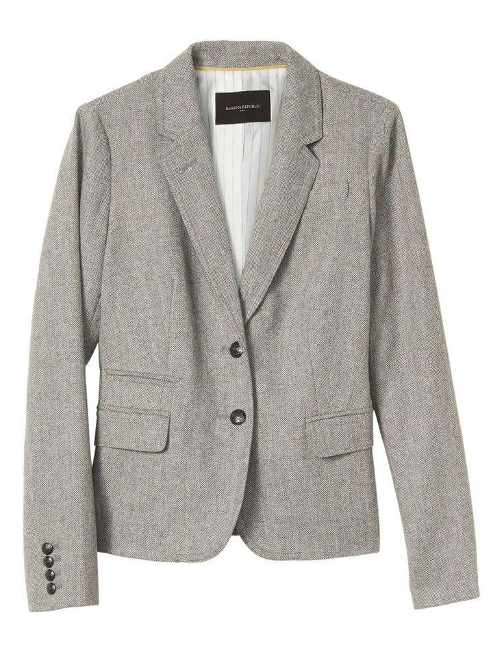 Herringbone academy blazer, 14. 40%off clearance $70, reg140. +add'l 15%off $150.