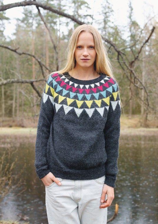#knit sweater, pattern by Sandnes